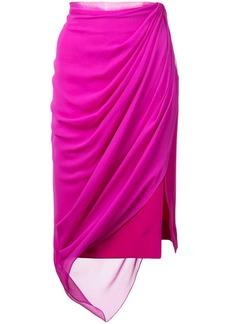 Prabal Gurung draped midi skirt