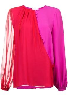 Prabal Gurung contrast long-sleeve blouse