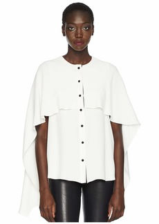 Prabal Gurung Ellis Cascade Cape Top