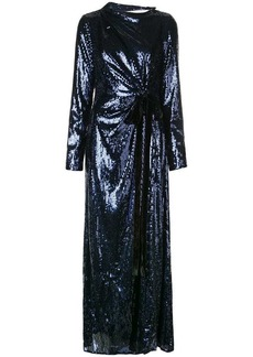 Prabal Gurung embellished long-sleeve maxi dress