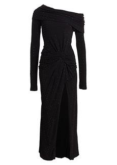 Prabal Gurung Embellished One-Shoulder Slit Dress