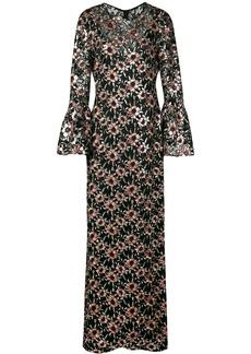 Prabal Gurung floral embroidered long dress