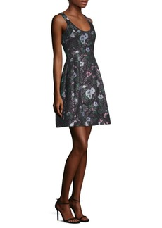 Prabal Gurung Floral Jacquard Fit-&-Flare Dress