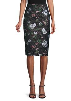 Prabal Gurung Floral Jacquard Pencil Skirt
