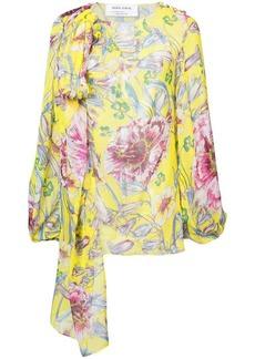 Prabal Gurung floral long-sleeve blouse