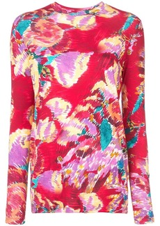 Prabal Gurung floral long-sleeve top