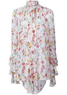 Prabal Gurung floral neck tie blouse