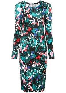 Prabal Gurung floral print fitted dress