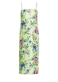 Prabal Gurung Floral Silk Slip Dress