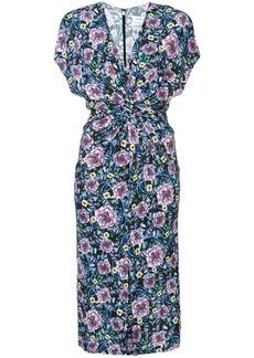Prabal Gurung front twist floral dress
