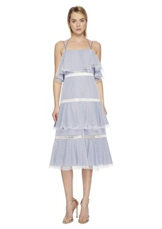 Prabal Gurung Halter Strap Tiered Dress