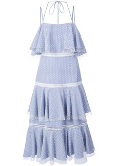 Prabal Gurung halterneck tiered dress