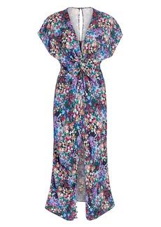 Prabal Gurung Jackie Floral Midi Dress