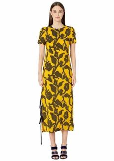 Prabal Gurung Large Floral Fil Coupe Dress