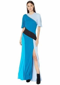 Prabal Gurung Lena Short Sleeve Patchwork Dress