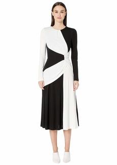 Prabal Gurung Lugu Long Sleeve Sash Dress