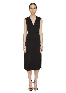 Prabal Gurung Mech Stretch Crepe V-Neck Carwash Dress