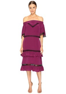 Prabal Gurung Off Shoulder Tiered Ruffle Dress