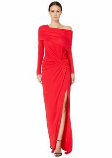 Prabal Gurung Off Shoulder Twist Waist Gown