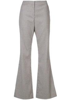 Prabal Gurung plaid flared trousers