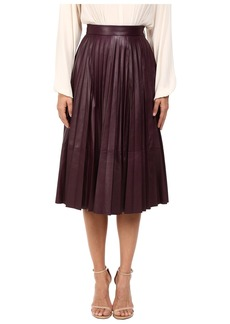 Prabal Gurung Pleated Leather Skirt
