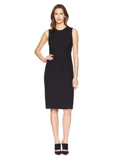 Prabal Gurung Poly Crepe Sleeveless Corset Seam Sheath Dress