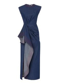 Prabal Gurung Asymmetric Draped Cotton Maxi Dress
