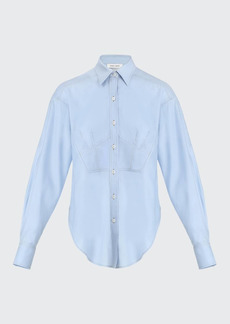 Prabal Gurung Button-Down Shirt w/ Corset Detail