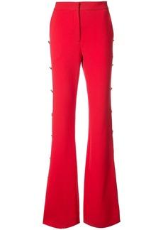 Prabal Gurung button embellished bootcut trousers