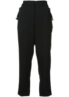 Prabal Gurung cropped high-waist trousers - Black