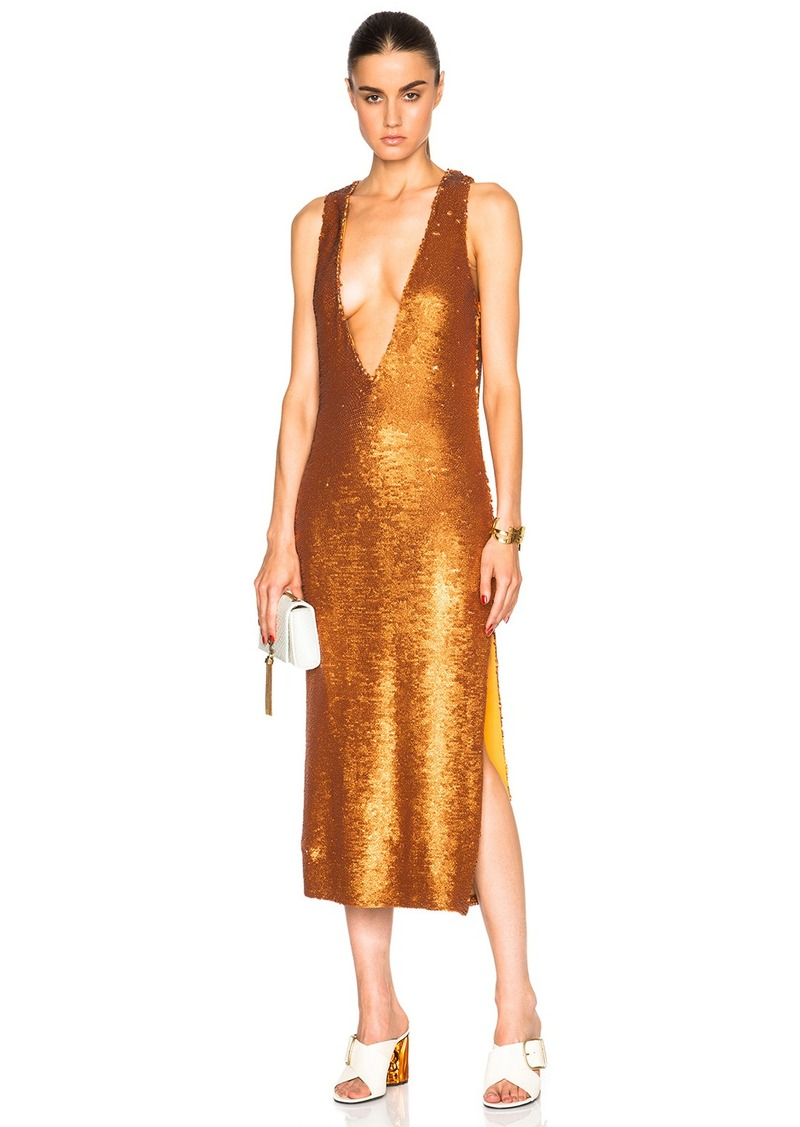 Prabal Gurung Dusted Paillette Embroidered Dress