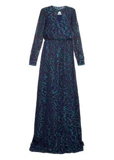 Prabal Gurung Embroidered sheer-chiffon gown