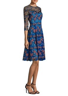 Prabal Gurung Floral Embroidered Dress