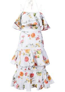 Prabal Gurung floral halterneck dress - White