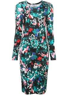 Prabal Gurung floral print fitted dress