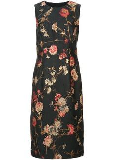 Prabal Gurung floral shift dress - Black