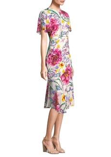 Prabal Gurung Floral Silk A-Line Dress