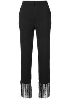 Prabal Gurung fringed tailored trousers - Black