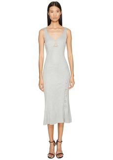 Prabal Gurung Jersey Sweetheart Neck Flare Skirt Dress