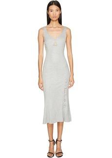 Prabal Gurung Jersey Sweetheart Neck Flare Skirt Dress