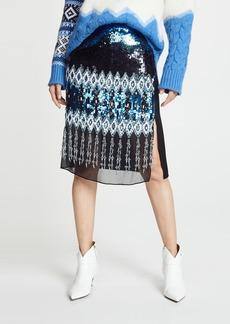 Prabal Gurung Kyla Ikat Embroidered Pencil Skirt