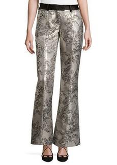Prabal Gurung Metallic Jacquard Flared Pants