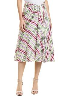 Prabal Gurung Moore Side Twist Silk Skirt