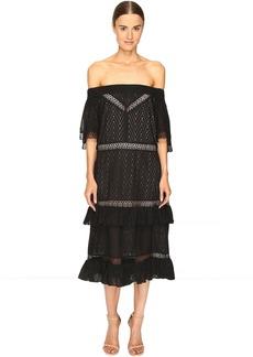 Prabal Gurung Off Shoulder Tiered Ruffle Dress