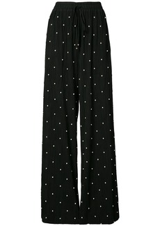 Prabal Gurung pearl embroidered trousers - Black