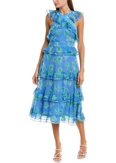 Prabal Gurung Pearson Silk Midi Dress