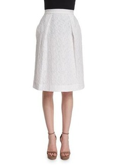 Prabal Gurung Pleated-Front Flippy Skirt