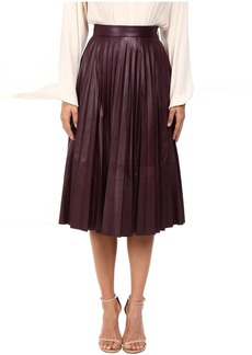 Prabal Gurung Pleated Leather Skirt