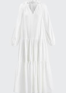 Prabal Gurung Poet-Sleeve Ruffle Maxi Dress