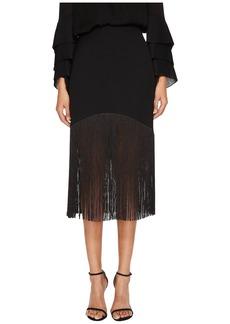 Prabal Gurung Polycrepe Fringe Skirt